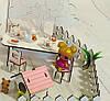 Кукольный Домик для Lol Little Fun maxi + обои + мебель + текстиль + дворик, фото 4