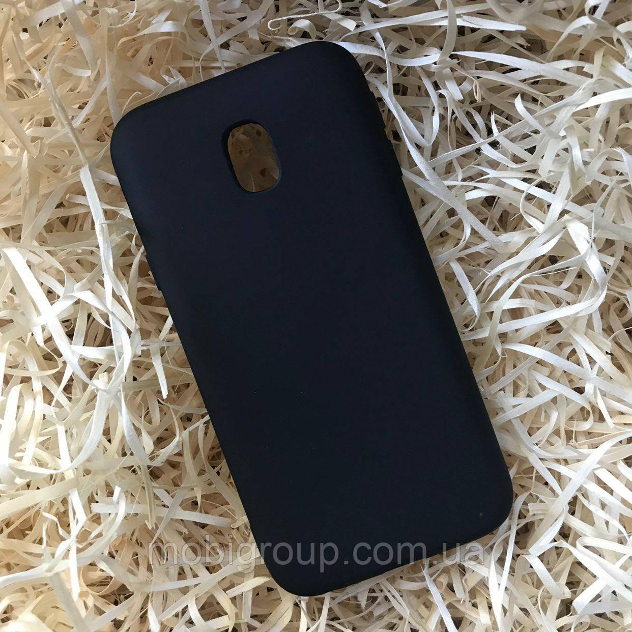 Чехол силиконовый Soft touch для Samsung J5 2017, Black
