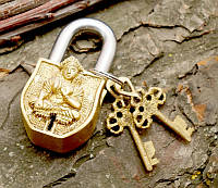9070053 Замок навесной бронзовый Тара