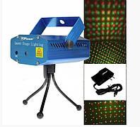 Лазерный голографический 2-х цветный мини проектор (6 видов рисунка)