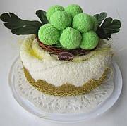 """Полотенце-тортик """"Торт с зеленым виноградом"""""""