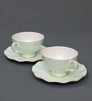 Чайный набор на 2 персоны Грациозо Верде из костяного фарфора