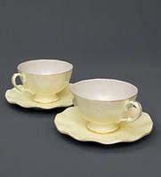 Чайный набор на 2 персоны Грациозо из костяного фарфора