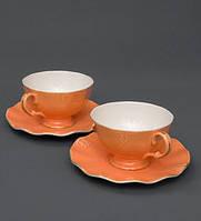 Чайний набір на 2 персони Грациозо з кістяного порцеляни AS-40