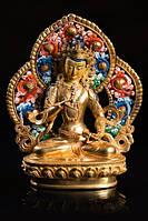 9070128 Статуэтка с позолотой Непал Будда Авалокитешвара