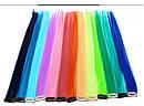 Цветная прядь 50 см на заколке клипсе голубая, фото 4
