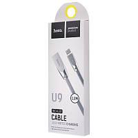 Оригинальный кабель синхронизации Hoco U9 Lightning Zinc Alloy Jelly Knitted (1,2м)
