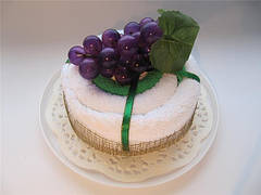 "Полотенце-тортик ""Тортик с фруктами(виноград)"""