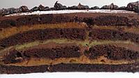 Шоколадно-финиковый веганский торт, фото 1