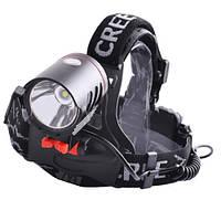 Налобный фонарик со съемной головкой 819, светодиод t6, рефлектор, блок питания сзади, 2*18650, з/у 220в