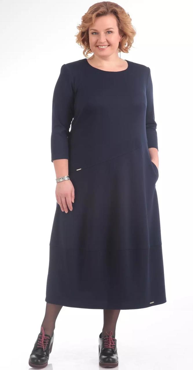 Платье Pretty-657/2 белорусский трикотаж, темно-синий, 56