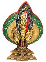 9070124 Статуэтка с позолотой Непал Авалокитешвара