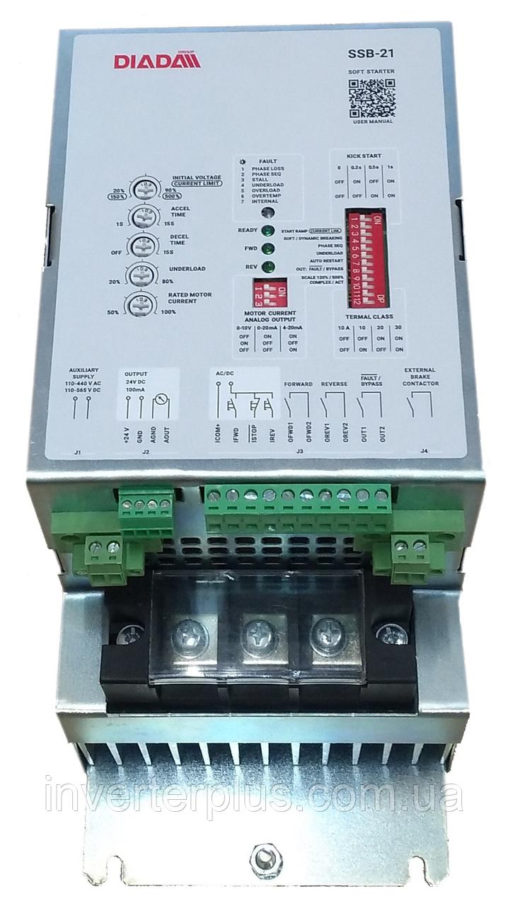 Пристрій плавного пуску SSB-21-85 для двигунів з потужністю 30кВт; 37кВт, 45кВт 3х400В
