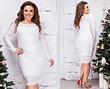 Нарядное гипюровое платье Размер 46 48 50 52 54 56 58 60 В наличии 6 цветов, фото 2