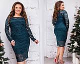 Нарядное гипюровое платье Размер 46 48 50 52 54 56 58 60 В наличии 6 цветов, фото 4