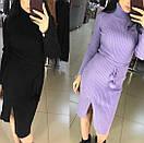 Платье в рубчик с двойным горлом, фото 7