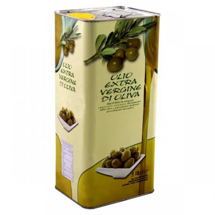 Краще італійське оливкова олія першого віджиму Olio Extra Vergine di Oliva з/б 5 л.