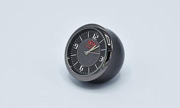 Часы в автомобиль Vehicle clock KIA, хром/круглые автомобильные часы с маркой авто в КИА подарок