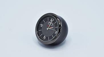 Часы в автомобиль Vehicle clock TOYOTA, хром/круглые автомобильные часы с маркой авто в Тойота подарок