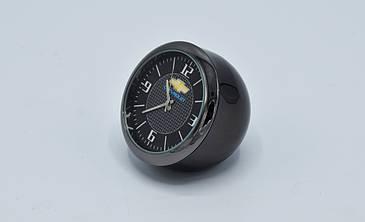 """Часы в автомобиль """"Vehicle clock"""" Chevrolet, хром/круглые автомобильные часы с маркой авто в Шевроле подарок"""