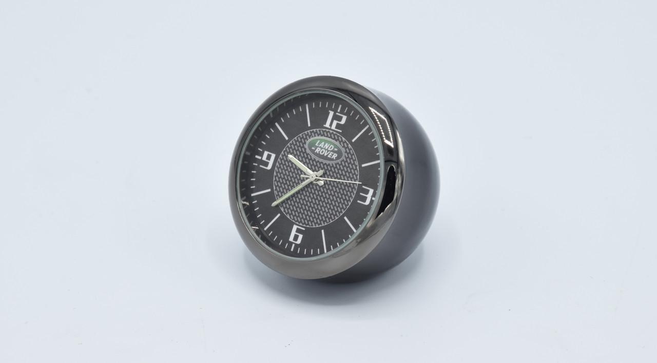 Часы в автомобиль Vehicle clock Land Rover, хром/круглые автомобильные часы с маркой авто в ЛендРовер подарок