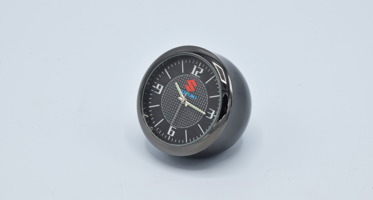 Часы в автомобиль Vehicle clock Suzuki, хром/круглые автомобильные часы с маркой авто в Сузуки подарок