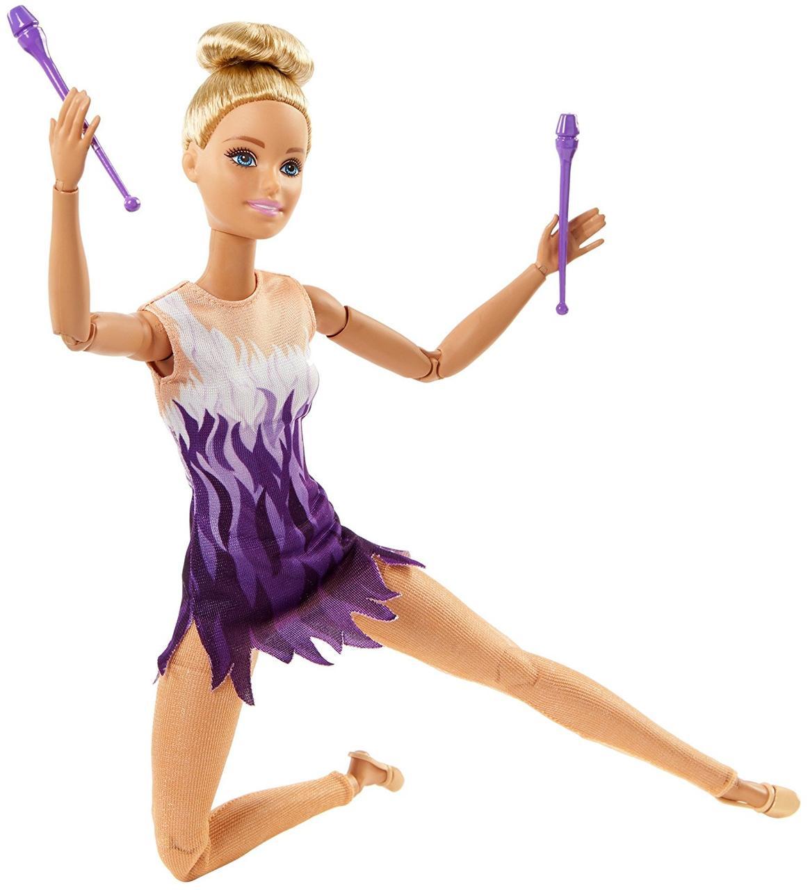Кукла Барби серия Безграничные движения Гимнастка Barbie Made to Move Rhythmic Gymnast