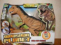 Динозавр на радиоуправлении RS 6124-1. Ходит. Крутит головой. Свет, Звук.  Размер 52см, фото 1
