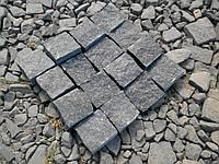 Брусчатка колотая гранитная, тротуарная плитка из натурального камня, фото 1