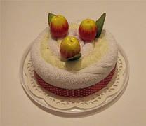 """Полотенце-тортик """"Тортик с фруктами(яблоко)"""""""