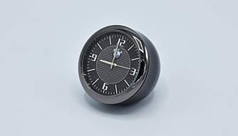 Часы в автомобиль Vehicle clock BMW, хром/круглые автомобильные часы с маркой авто в БМВ подарок