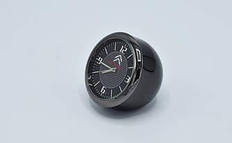 """Часы в автомобиль """"Vehicle clock"""" Citroen, хром/круглые автомобильные часы с маркой авто в Ситроен подарок"""
