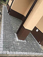 Брусчатка гранитная улучшенная темно-серая