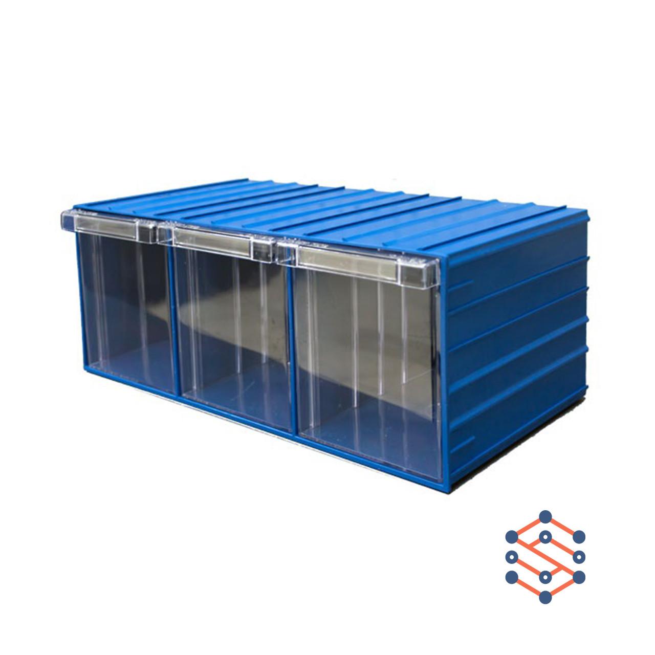 Модульный выдвижной лоток с тремя ящиками 370х204х160 мм