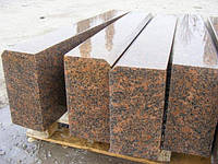 Гранитный камень (бордюр) красный 20*4