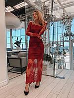 Женское шикарное платье из кружева, фото 1