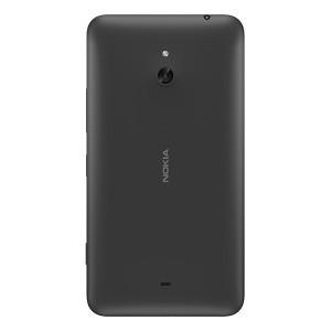 Задня кришка для смартфону Nokia Lumia 1320 чорна, з боковою кнопкою