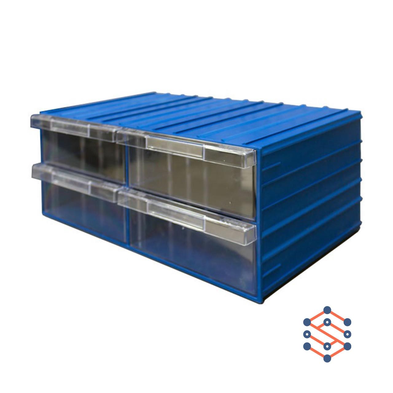 Модульный выдвижной лоток с 4 ящиками 370х204х160 мм
