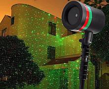 Лазерный уличный проектор (рисунок точками)