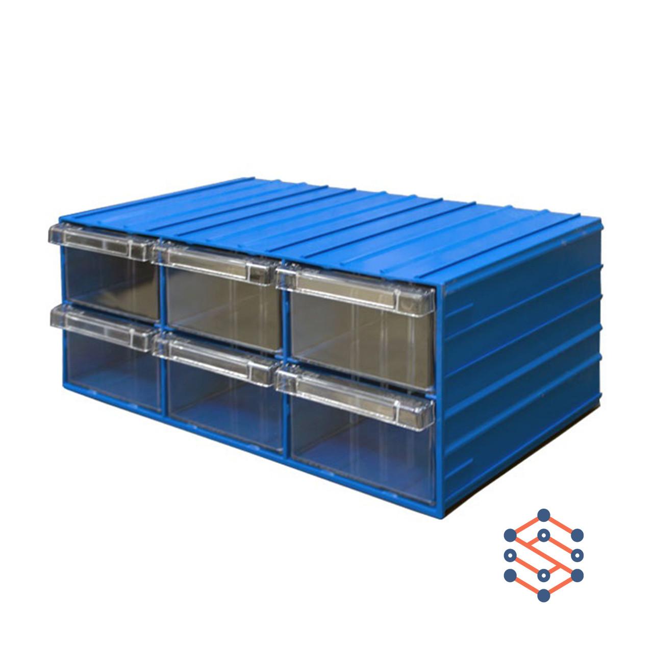 Модульный выдвижной лоток с 6 ящиками 370х204х160 мм