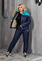 Костюм теплый куртка+штаны на синтепоне подклад на куртке овчина 50,52,54, фото 1