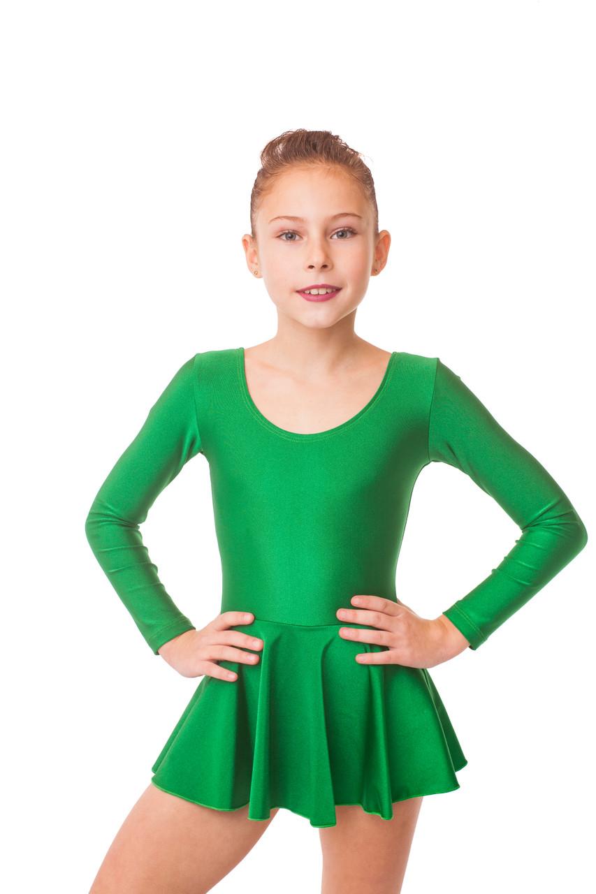 Плаття для танців (купальник + спідниця) колір ЗЕЛЕНИЙ