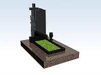 Памятник гранитный с крестом, изготовление и установка надгробных памятников симферополь, фото 1