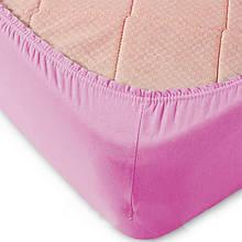 Простирадло на гумці 160х200+20 см-69 яскраво-рожева
