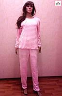 Махрова жіноча піжама тепла рожева р. 40-54