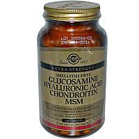 Глюкозамин, Хондроитин, Гиалуроновая кислота и МСМ, Solgar (Солгар), 120 таблеток