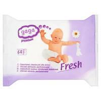 Детские влажные салфетки GAGA Premium (64 шт)