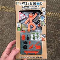 Набор Stikbot Action Life Styling Pack orange Стикбот Стиль жизни оранжевый для анимационного творчества, фото 1
