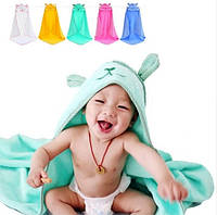 Детское махровое полотенце уголок после купания