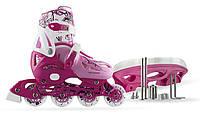 Детские роликовые коньки регулируемые 4в1 NILS 31-34, фото 1